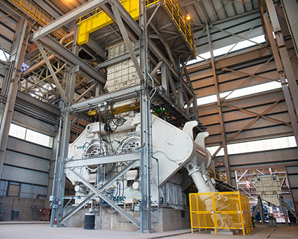 The HRC 3000 at Morenci is the largest high pressure roll crusher in the world and the first of its kind. It is estimated to consume 14% less power per ton and has 19% higher capacity than traditional HPRC's.